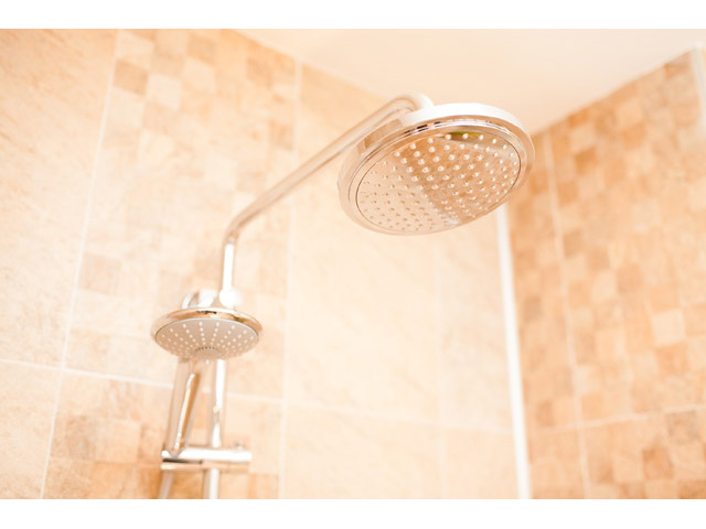 Shower head and high quality bathroom equipment - Apartment Design Vienna